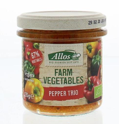 afbeelding van Allos farm vegetable paprika trio