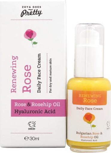 afbeelding van Face cream rose renewing